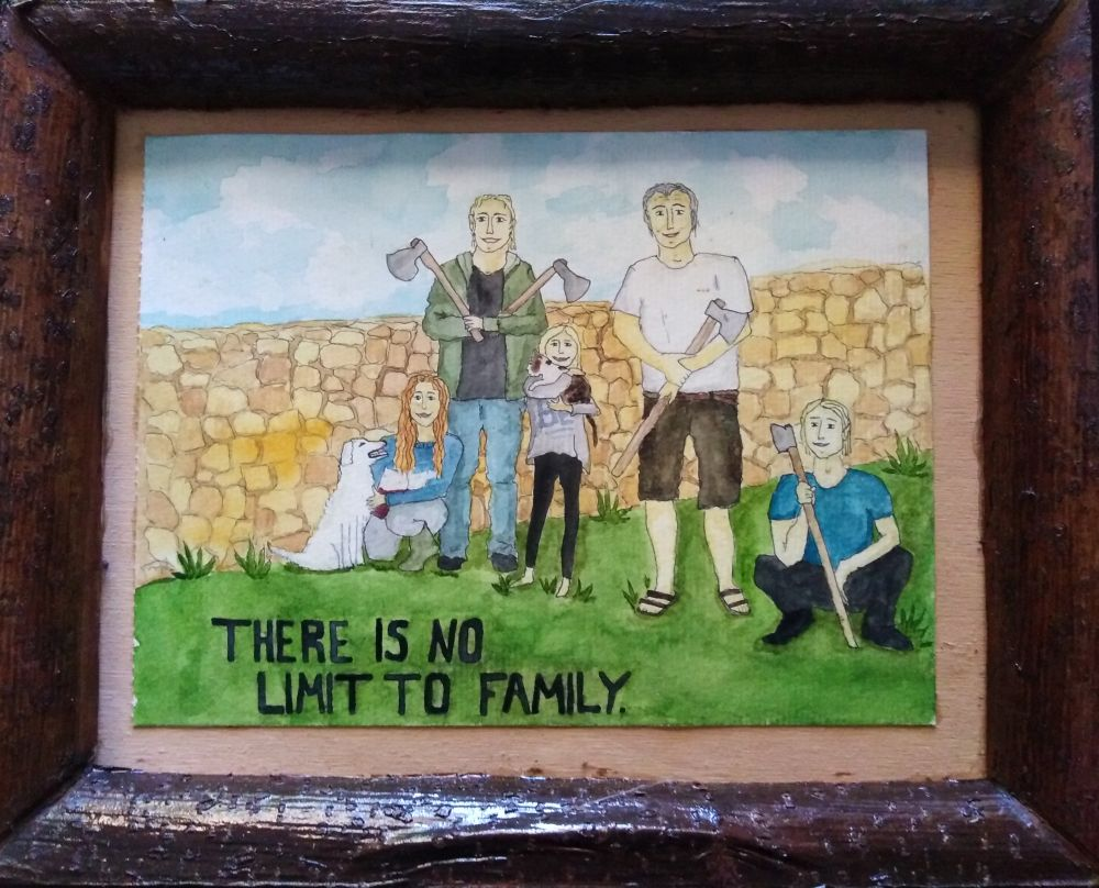 Painting by Lina Luna - There is no limit to family