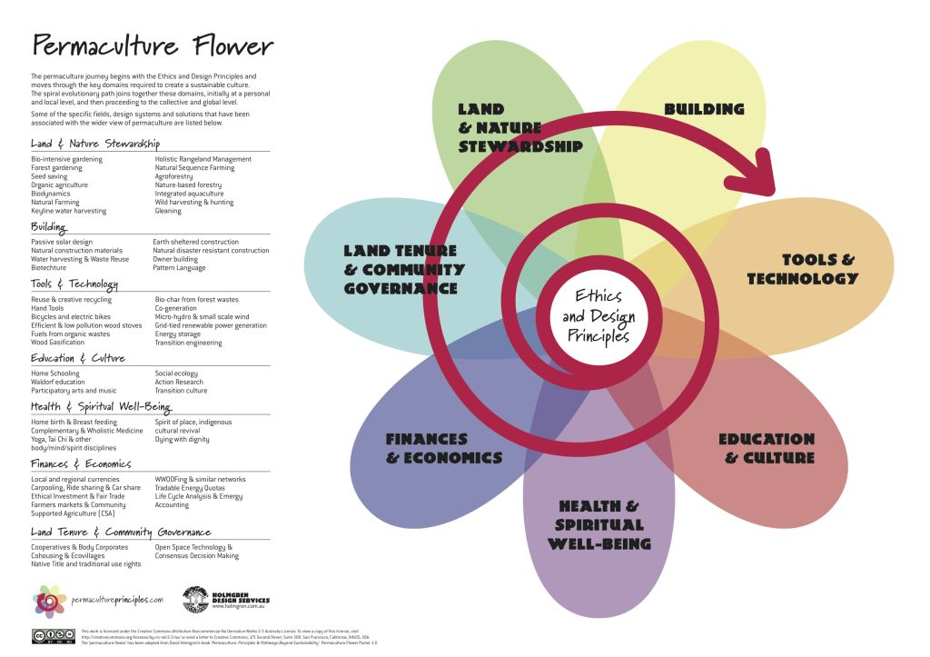 David Holmgren's permaculture flower
