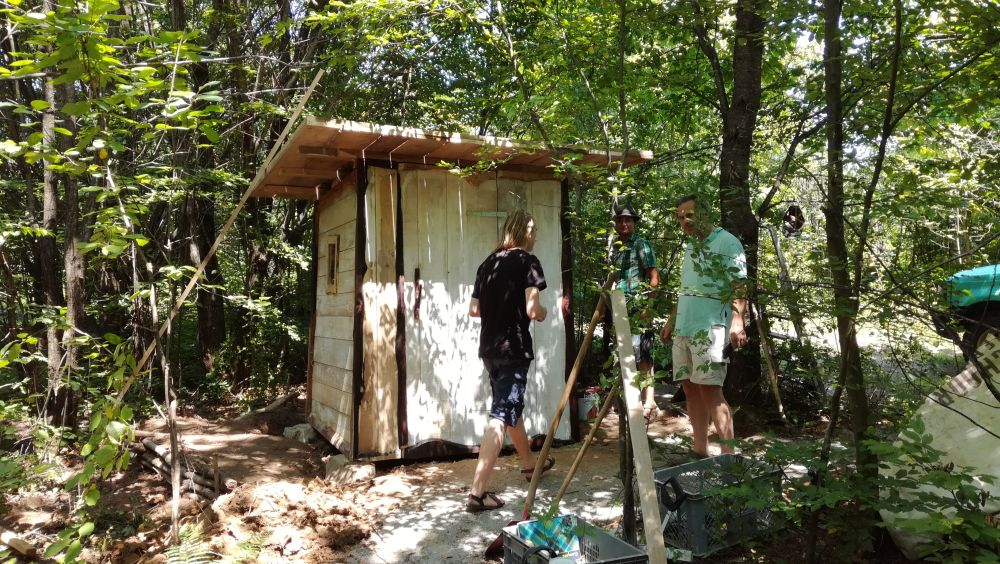 Compost toilet in the forest
